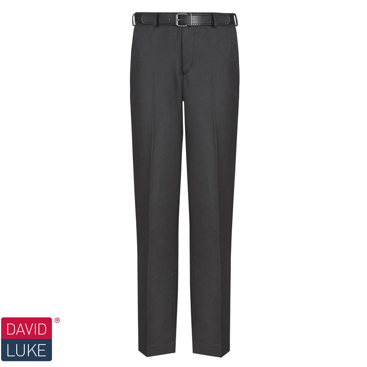 4cf30ac0d David Luke Senior Flat Front Regular Fit Trouser - Black - Fosters ...